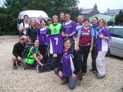 Start of the Yorkshire Three Peaks Challenge